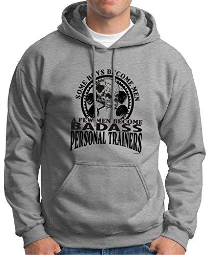 Created Equal, A Few Men Become Personal Trainers Premium Hoodie Sweatshirt Medium Light Steel