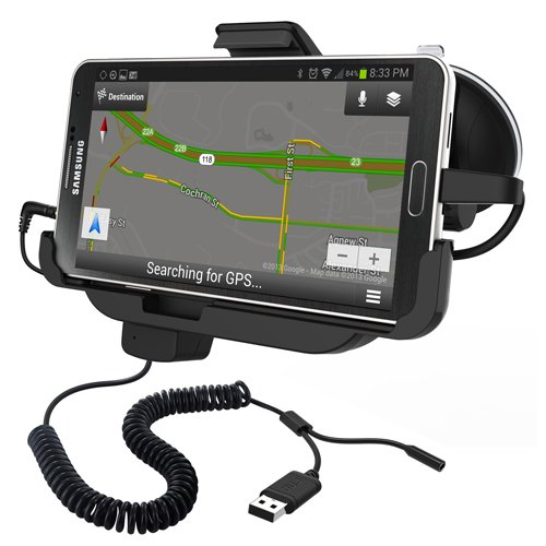 Rnd Vehicle Charging Dock For Samsung Galaxy Note 3 (Compatible Without Or With A Slim-Fit Case) (Black)
