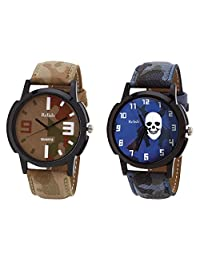 Relish Black Analog Round Casual Wear Watches For Men - B019T7L4V8