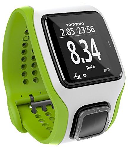 TomTom Multisport Cardio - GPS de mano, verde y blanco