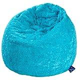 """Magma-Heimtex 2826132 Sitzsack XL Fluffy, 70x110cm, 220Liter, Polystyrolf�llung, Original Knauf, Farbe t�rkisvon """"Sitting Point"""""""