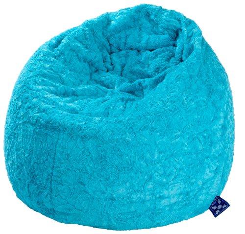Magma-Heimtex 2826132 Sitzsack XL Fluffy, 70x110cm, 220Liter, Polystyrolfüllung, Original Knauf, Farbe türkis