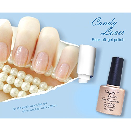 Candy Lover Brand 6 Pcs Nail Shellac LED Gel Polish 10ml