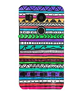 printtech Pattern Colored Back Case Cover for LG Google Nexus 5X::LG Google Nexus 5X (2nd Gen)