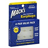 Macks Earplugs, Pillow Soft Silicone, Value Pack, 6 pair