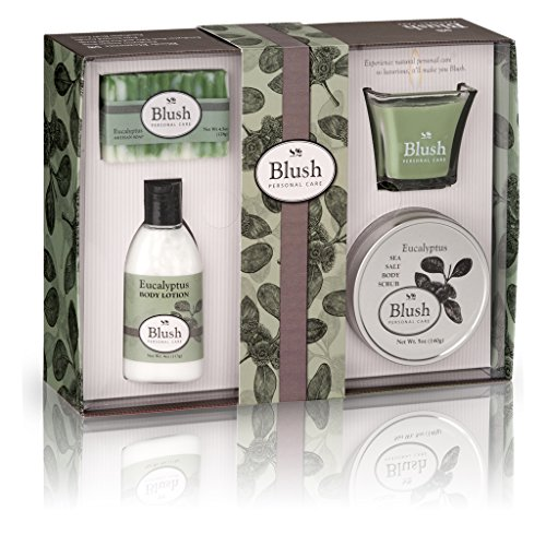 Eucalyptus Bath And Body Gift Set For Women - Natural Ingredients With Pure Essential Oils. Relaxation & Luxury Skin Care That Works - Pamper Her Now With The Best Spa Gifts In Beauty Sets & Baskets