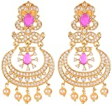 Violet and Purple Alloy Gold Plated Dangle and Drop Earrings for Women (1000028366)