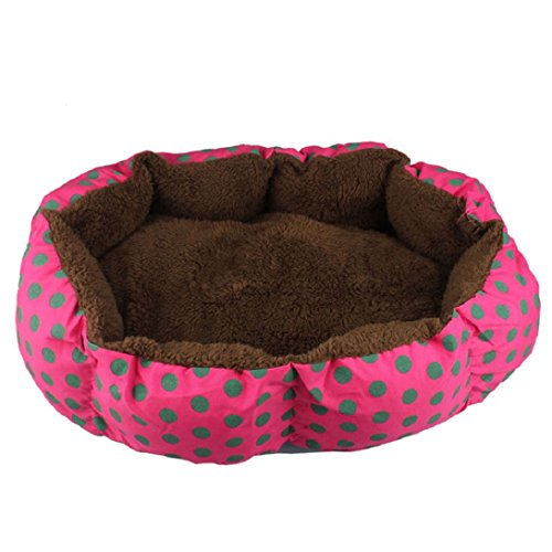 Doinshop Soft Dog Puppy Cat Pet Pad Warm Bed House Plush Cozy Nest Mat (hot pink)
