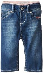 Levi\'s Baby Girls Brandi Denim Skinny Jean, Iced Blue, 6-9 Months