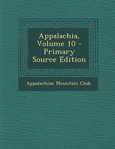Appalachia, Volume 10
