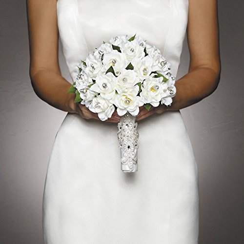 David Tutera Applique Bouquet Wrap - Cream