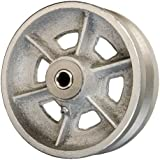 "6"" x 2"" V Groove Wheel for Casters or Equipment 1200 lb Cap"