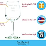 Smart Assy Funny Wine Glass 13 oz - Best Christmas Gifts For Women - Unique Birthday Gift For Her - Humorous Xmas Present Idea For a Mom, Wife, Girlfriend, Sister, Friend, Coworker or Daughter