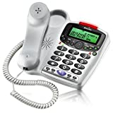 Binatone Speakeasy 6 Corded Big Button Telephone with Answering Machine in Silverby Binatone