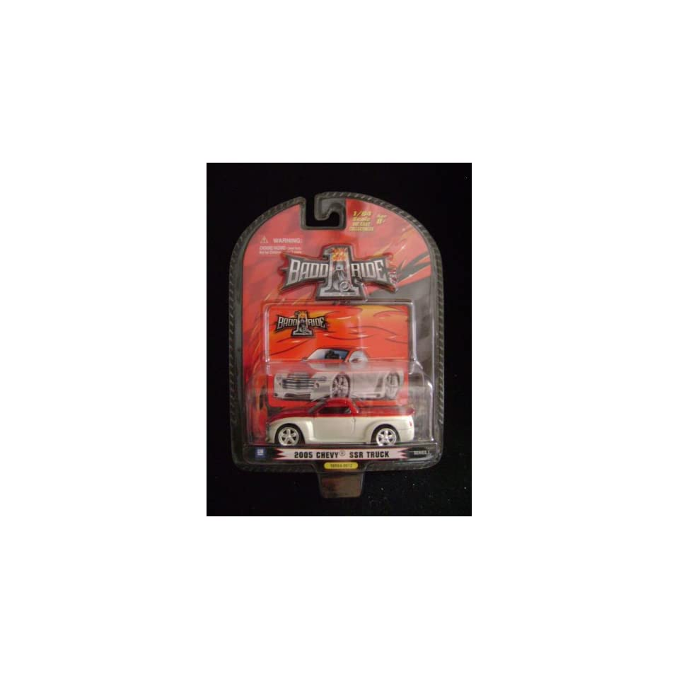 1 Badd Ride Chevy SSR Diecast Red and White Series 1