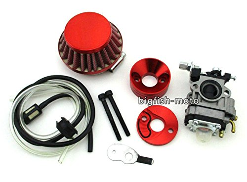 Red Carburetor Air Filter Vstack 33 43 49cc 50cc 52 cc Goped Scooter Pocket Bike