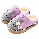 SITAILE Cute Home Shoes, Kids Fur Lined Indoor House Slipper Bunny Warm Winter Home Slippers For Girls(Toddler/Little Kid)