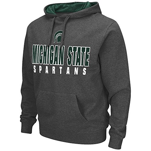 Mens-NCAA-Michigan-State-Spartans-Pull-over-Hoodie-Heather-Charcoal