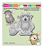Stampendous House Mouse Cling Rubber Stamp 4.5