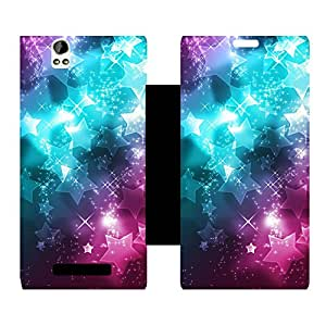 Phone Candy Designer Flip Cover with hi-res printed Vinyl sticker wrap-around for Lava Iris X1 Grand