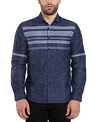 Locomotive Men's Casual Shirt (15110001471420_LMSH010648_XL_White)
