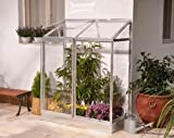 Palram 4 x 2ft Lean to Mini Greenhouse and Base - Silver