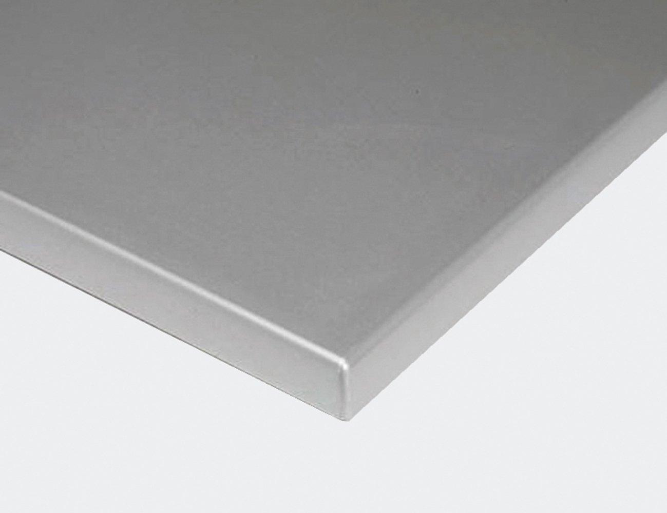 Nardi 30.017.10.197 Tischplatte zu Tisch Dama/Regina, aus Werzalit, Ø 70 x 4 cm, silber