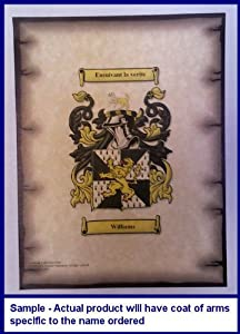 Muncy Coat of Arms on Aged Parchment Look 8 1/2 x 11 Paper