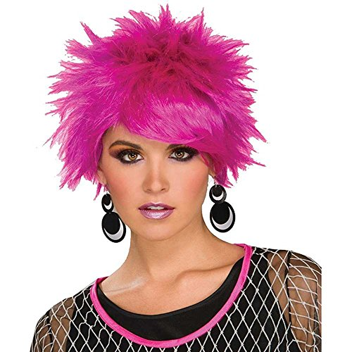 80s Purple Pixie Adult Wig