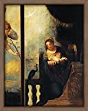 WallsnArt, Figurative Modern Framed Art Work Painting With out glass,Virgin Of Annunciation, Detail From Annunciation, By Andrea Schiavone (Ca 1500-1563), Church Of San Pietro, Belluno, Veneto, Italy, 16th Century