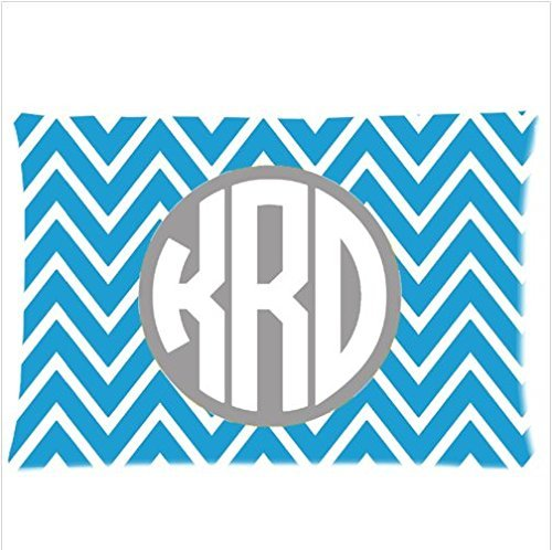 Personalized Classic Chevron Monogram Design Chevron Pattern Zippered Pillowcases 20X30 Inches (Twin Sides ) front-230028