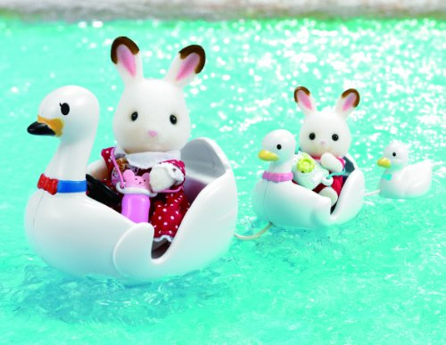 sylvanian-families-barcos-con-forma-de-cisne-de-juguete