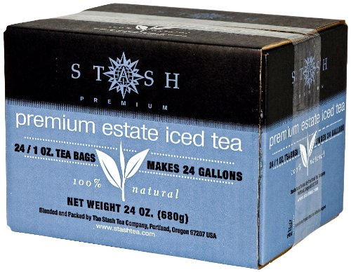 Stash Tea Premium Estate Iced Tea, 1 Ounce Iced Tea Brew Bags (Pack Of 24)