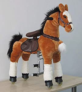 UFREE Large Mechanical Horse Toy, Ride on Bounce up and down and Move, Ponycycle- Size Big, Height 44'' for Children 4 to 15 Years Old