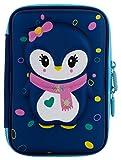#2: Ofsign Multipurpose Cute Owl Art Blue Pencil Pouch