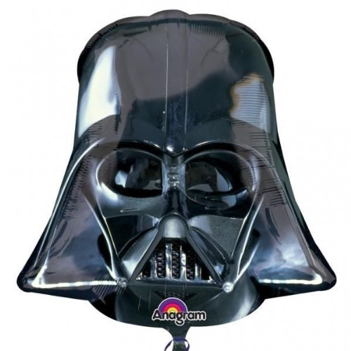 New Black Darth Vader Helmet Star Wars Supershape Foil Balloon