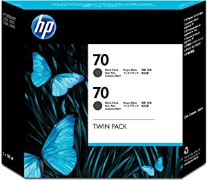 HP 70 Matte Black 130 Ml Crtg Twin Pack Use In Desingjet Printers