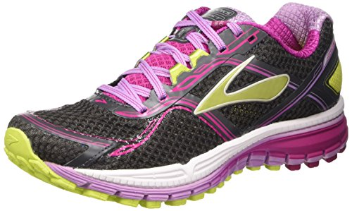 Brooks Ghost 8 W, Scarpe da Corsa Donna, Multicolore (Anthracite/Festival Fuchsia/Lime Punch), 40 1/2 EU