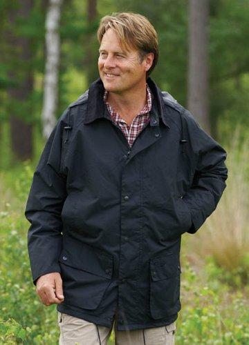 Mens Champion Blenheim Country Clothing Hooded Waterproof Jacket Black MED