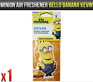 Despicable Me Minions Kevin Bello Banana Fragrance Car Air Freshener Licensed x1