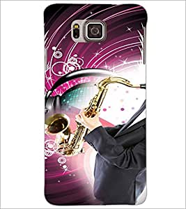 PrintDhaba Trumpet D-3047 Back Case Cover for SAMSUNG GALAXY ALPHA (Multi-Coloured)
