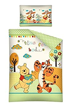 winnie pooh time for bed baby bettw sche garnitur 100 x. Black Bedroom Furniture Sets. Home Design Ideas