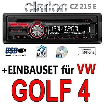 VW golf 4-clarion cZ215E-autoradio mP3/uSB avec kit de montage