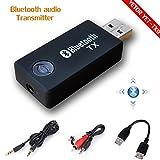YETOR YET-TX9 Bluetooth transmitter, 3.5mm Portable Stereo Audio Wireless Bluetooth Transmitter for TV, iPod, MP3/MP4,USB Power Supply (BLACK)