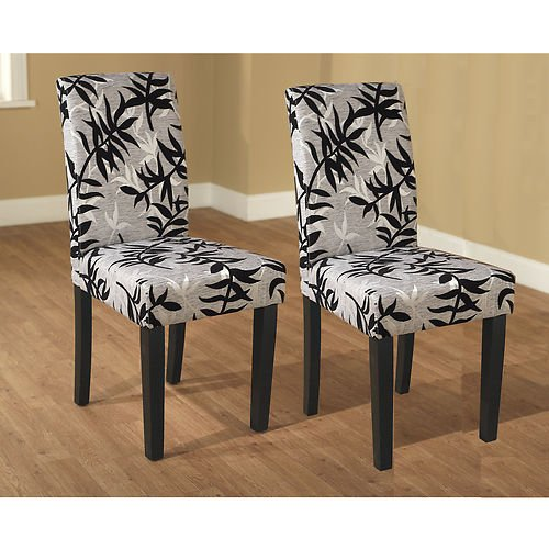These Elegant Parson Chairs Set Of 2 In Black And Silver Can Change The Loo