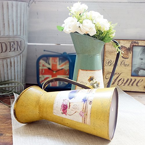 VANCORE(TM) Nostalgia Style Shabby Chic Larger Metal Pitcher Vase for Flowers Decoration 3