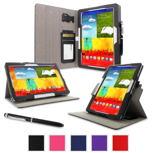 Sale!! rooCASE Samsung Galaxy Tab Pro 10.1 / Note 10.1 2014 Case - Dual View Multi-Angle Stand Table...