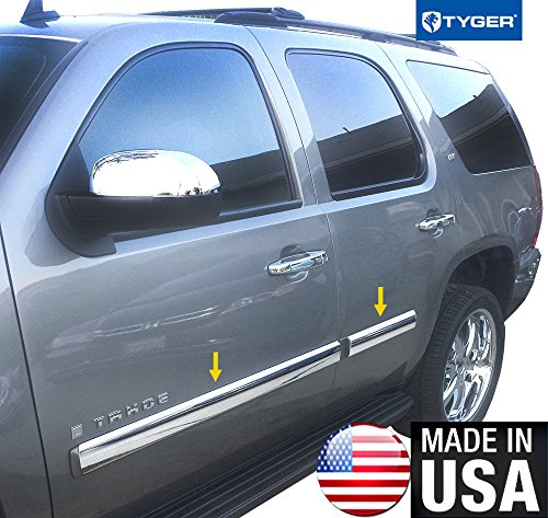 Made In USA! 2007-2009.5 Chevy Tahoe Rocker Panel Chrome Stainless Steel Body Side Moulding Molding Trim Cover 3.5