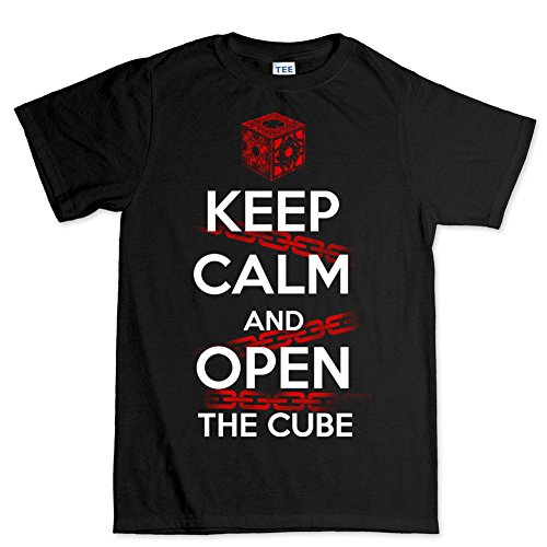 Men's Keep Calm Open The Cube Halloween T Shirt - S to 5XL