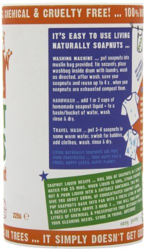 Living Naturally Organic Soap Nuts Natural Detergent 225g (single pack)